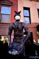 Lisa DuBois- African man statue, Harlem, NY
